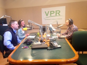 Annie Rowell (me) and Phil Harty, our Regional VP, talking with Mitch Wortlieb on VPR's Morning Edition.